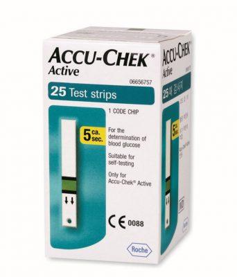 Que thử Accu-chek Active hộp 25 que