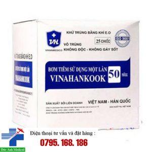 Bơm ăn 50ml Vinahankook- Hộp 25c