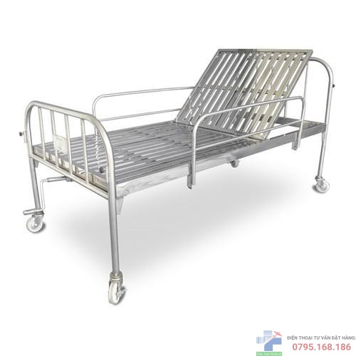 Giường y tế 1 tay quay inox 304